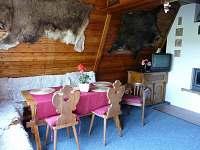 Obytná místnost - posezení - pronájem chaty Čenkovice