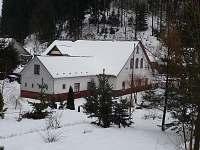 Zahrada a objekt v zimě