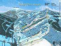 Mapa sjezdovky Dolní Morava zima - Králíky - Dolní Boříkovice