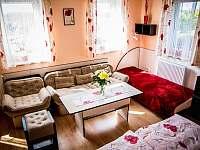 Obývací koutek dolního apartmánu - k pronajmutí Přibyslav
