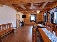 Společenská místnost - chalupa ubytování Dolní Morava