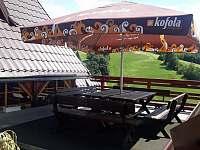 Posezení terasa - chata k pronájmu Čenkovice