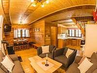 obývací pokoj - chalupa ubytování Kunvald