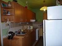 KUCHYŇ lednice s mrazáčkem, mikrovlnka, sporák, konvice, gril, kráječ