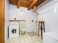 Zelená koupelna s wc - pronájem chalupy Nekoř