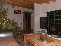 Obývací světnice - chalupa ubytování Sedloňov