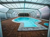 Bazén s mořskou vodou - chalupa ubytování Olešnice v Orlických horách - Rzy