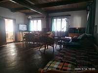 Obytná místnost - chalupa ubytování Zdobnice - Kunčina Ves