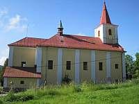 kostel ve Skuhrově - pronájem chalupy