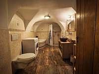koupelna v přízemí - chalupa k pronajmutí Zdobnice