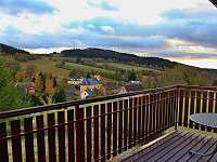 Výhled terasa - pronájem chalupy Čenkovice