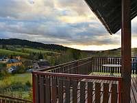 Výhled terasa - chalupa k pronajmutí Čenkovice