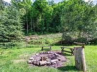 zahrada - ohniště - pronájem chalupy Těchonín