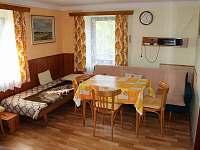 Obývací pokoj - chalupa ubytování Nekoř