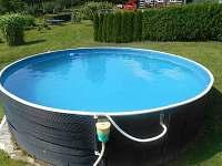 Bazén se solárním vyhříváním - chalupa ubytování Rampuše