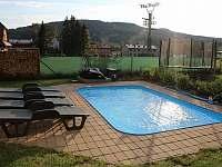 bazén s tepelným čerpadlem - chalupa ubytování Deštné v Orlických horách