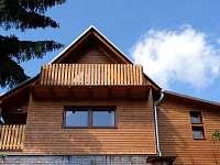 Pohled do štítu - chata k pronájmu Čenkovice