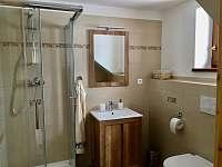 Koupelna v přízemí - chalupa k pronájmu Králíky