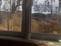 výhled z obývacího pokoje