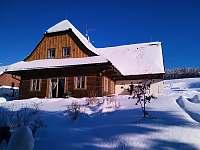 Roubenka Stella Dolní Morava v zimě - roubenka ubytování Dolní Morava