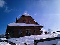 Roubenka Stella Dolní Morava v zimě - roubenka k pronájmu
