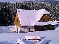 Roubenka Stella Dolní Morava v zimě - roubenka k pronajmutí