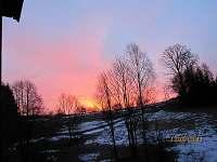 Západ slunce - ubytování Klášterec nad Orlicí