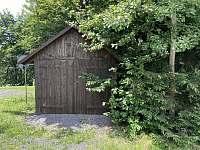 Dřevěná stavba pro úschovu kol, ... - chata k pronajmutí Pastviny - Lhotka