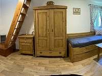 Obývací pokoj v přízemí - chata k pronajmutí Pastviny - Lhotka