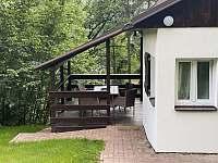 Venkovní terasa - pronájem chaty Pastviny - Lhotka