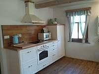 Plně vybavená kuchyň spodní apartmá - společenská místnost