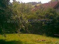 horní část zahrady s ohništěm - chalupa ubytování Letohrad - Kunčice