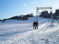 sjezdovka Kunčice-800m dlouhá-oblíbená rodiči s dětmi