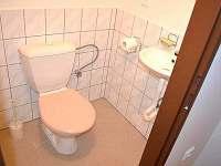 WC v patře - chalupa k pronájmu Letohrad - Kunčice