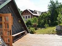 terasa - chalupa k pronájmu Jamné nad Orlicí