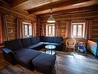 společenská místnost obývací část - chalupa k pronájmu Rokytnice v Orlických horách
