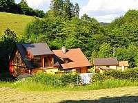 Celkový pohled - úplná samota - chata k pronájmu Bušín