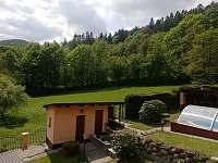 výhled z čelní terasy - Bušín