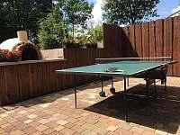 Venkovní stolní tenis - chalupa k pronájmu Červená Voda
