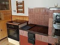 Kuchyň - chalupa ubytování Dolní Orlice