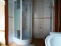 Horni apt koupelna - chata k pronajmutí Deštné v Orlických horách