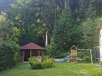pohled od wellness zony - chata ubytování Deštné v Orlických horách