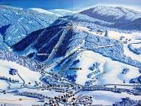 Mapka Skiareálu Deštné