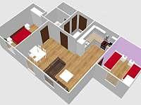 plán apartmánu 3 - k pronájmu Deštné v Orlických horách