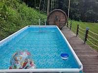 Bazén 4m x 2m x 1m, sauna 4 m - chata k pronájmu Olešnice v Orlických horách
