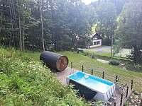 Bazén 4m x 2m x 1m, sauna 4 m - chata ubytování Olešnice v Orlických horách