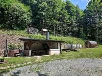 Pergola s grilem - chata ubytování Olešnice v Orlických horách