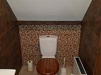 WC v podkroví - pronájem chaty Olešnice v Orlických horách