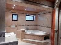 Koupelna v přízemí - chalupa k pronájmu Dolní Hedeč