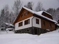 Chata Bludička v zimě - apartmán k pronájmu Deštné v Orlických horách